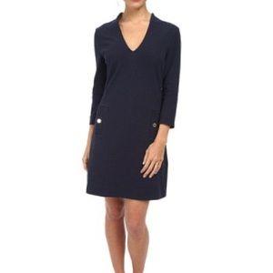 lilly pulitzer navy blue charlena shift dress